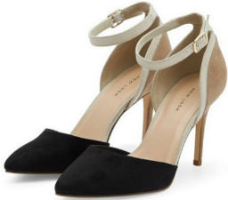 Black Suedette Colour Block Pointed Heels - New Look - €27.99